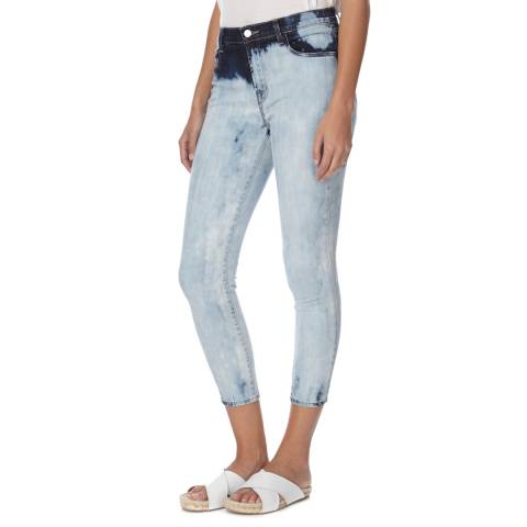 J Brand Faded Blue Alana High Rise Skinny Fit Cropped Stretch Jeans