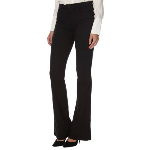 J Brand Seriously Black Maria High Rise Skinny Flare Jeans