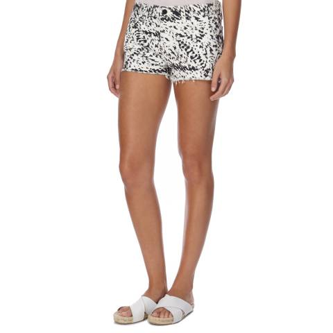 J Brand Black/White Low Rise Cut Off Shorts