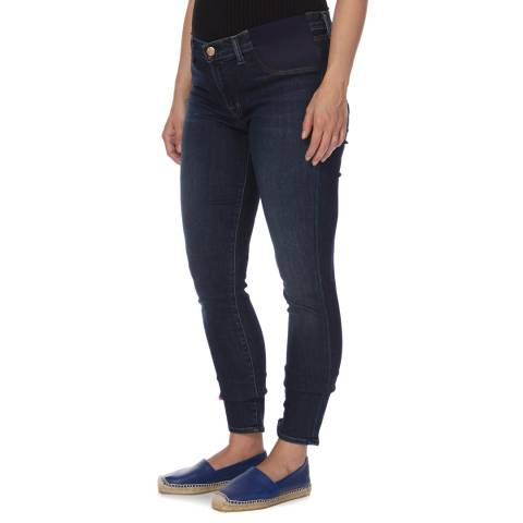 J Brand Dark Blue Mama Maternity J Mid Rise Skinny Fit Stretch Jeans