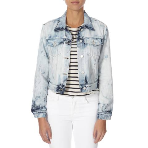 J Brand Faded Blue Harlow Shrunken Cotton Jacket