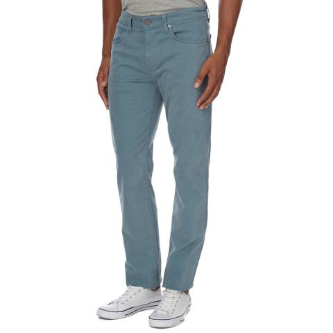 J Brand Teal Kane Straight Fit Trousers