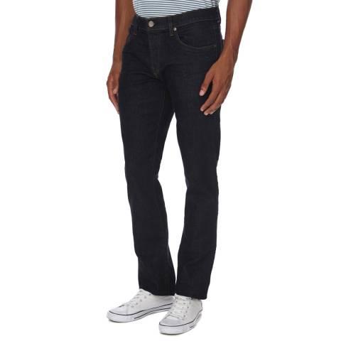 J Brand Dark Navy Kane Straight Fit Cotton Stretch Jeans