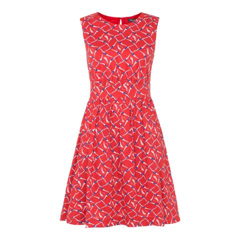 Emily and Fin Red Cotton Synchronised Swimmers Printed Lucy Dress