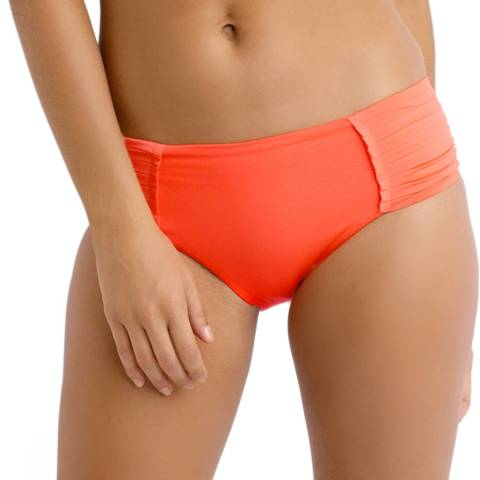 Seafolly Orange Pleated Retro Bikini Briefs