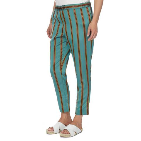 DAY Birger Et Mikkelsen Green Stripe Slim Trousers
