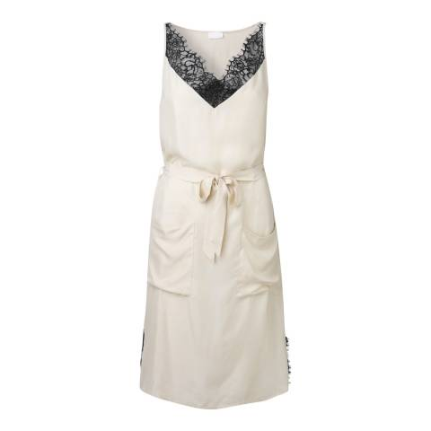 DAY Birger Et Mikkelsen Cream Romance Dress with Tie Waist