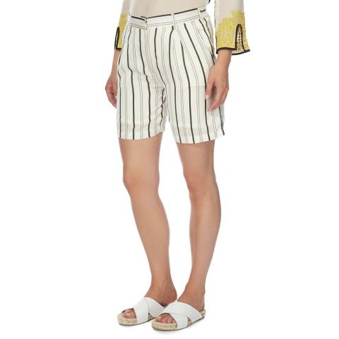 DAY Birger Et Mikkelsen Cream Stripe Cotton Mix Nightskye Shorts