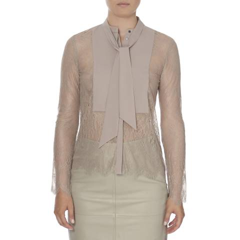 DAY Birger Et Mikkelsen Dusty Pink Lace Deuvres Shirt