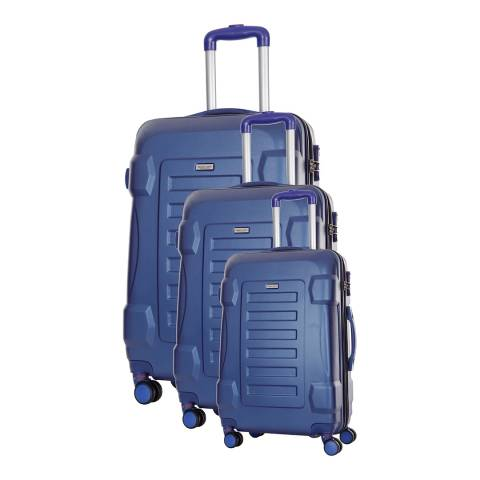 Travel One Set of 3 Marine Spinner Linden Suitcases 50/60/70cm