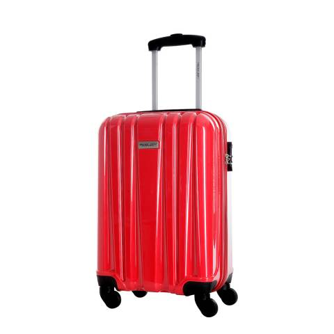 Travel One Red Spinner Cabin Singuil Suitcase 50cm