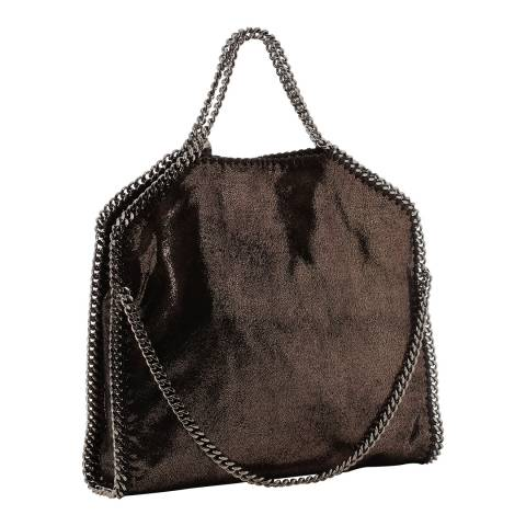 Stella McCartney Ruthenium Shiny Three Chain Falabella Tote Bag