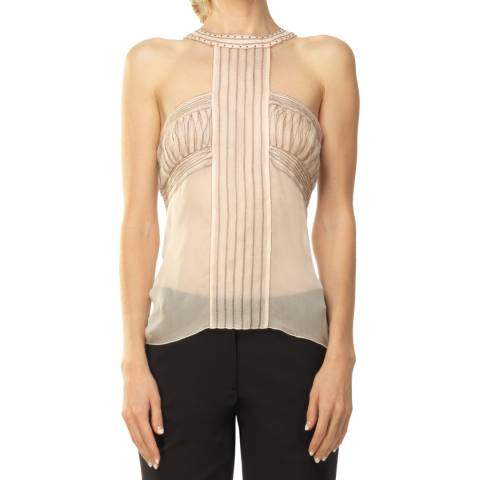Leon Max Collection OLD STYLE Pale Pink Cut Out Detail Top