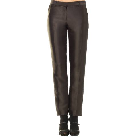 Leon Max Collection Black Satin Slim Trouser