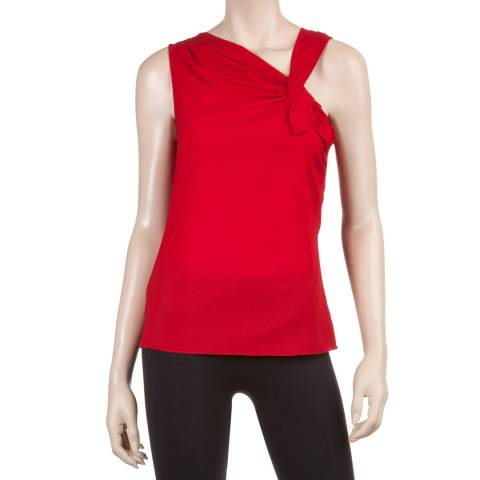 Leon Max Collection Red Asymmetrical Top