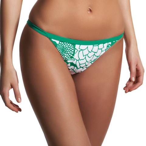 Freya Green/White Apple Sour Fortune Tab Side Briefs
