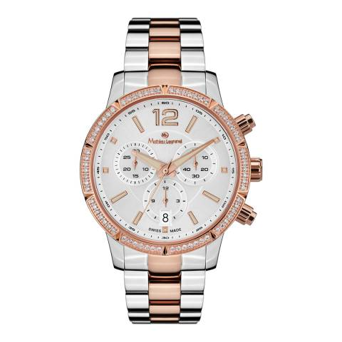 Mathieu Legrand Women's Silver/Rose Gold Eclantante Watch