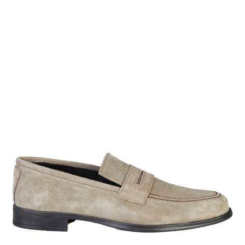 Men's Taupe Suede Benjamin Penny Loafers