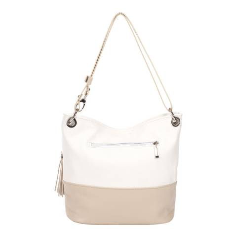 Giorgio Costa White/Cream Leather Shoulder Bag
