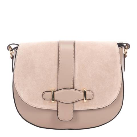 Giorgio Costa Pink Leather Crossbody Bag