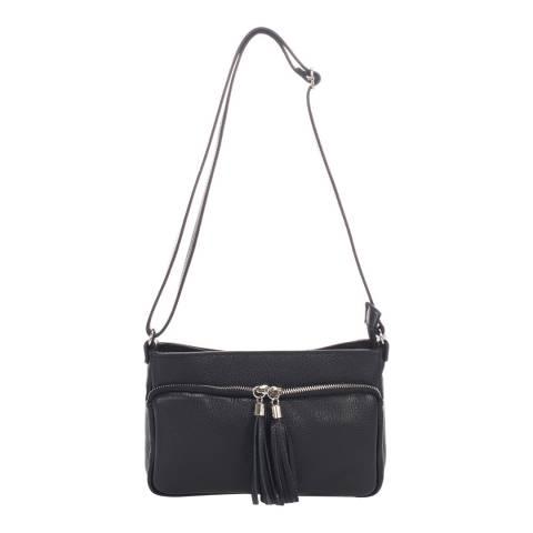Giorgio Costa Black Leather Crossbody Bag