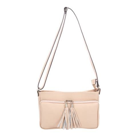 Giorgio Costa Pink Tassel Crossbody Leather Bag