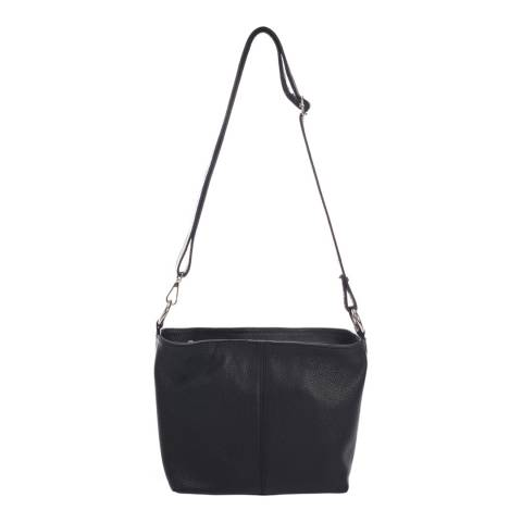 Massimo Castelli Black Shoulder Leather Bag