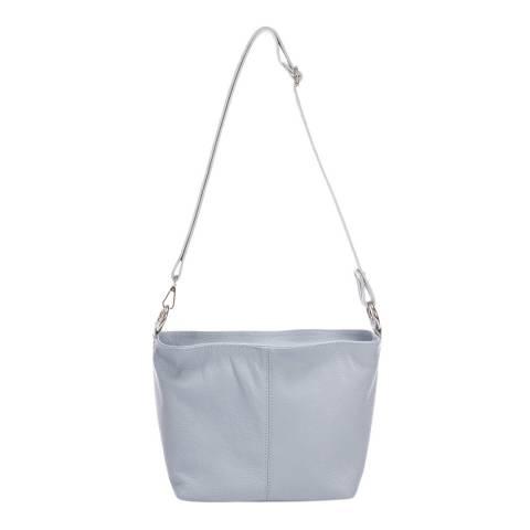 Massimo Castelli Light Blue Shoulder Leather Bag