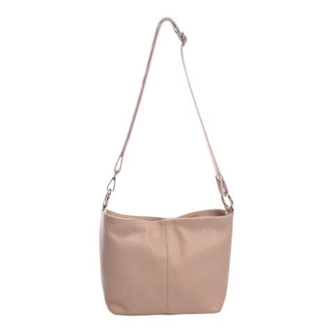 Massimo Castelli Pink Shoulder Leather Bag