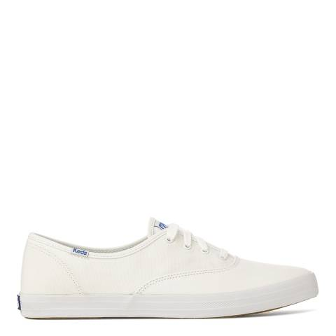 Keds Women's White Canvas Champion Low Top Sneakers