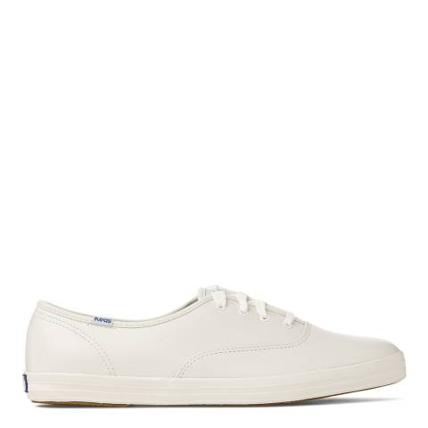 Keds Women's White Leather Core Champion Sneakers
