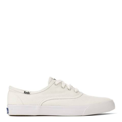 Keds Women's White Canvas Triumph Seasonal Solids Sneakers