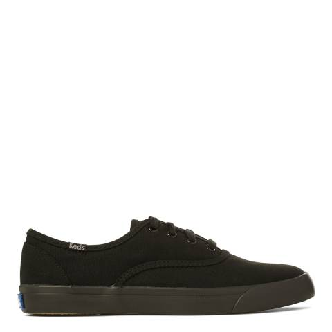 Keds Women's Black Canvas Triumph Seasonal Solids Sneakers