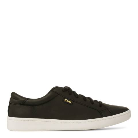 Keds Women's Black Leather Ace Low Top Sneakers
