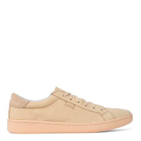 Keds Women's Pale Peach Leather Ace Mono Low Top Sneakers