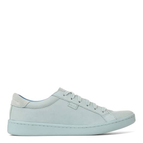 Keds Women's Light Blue Leather Ace Mono Low Top Sneakers