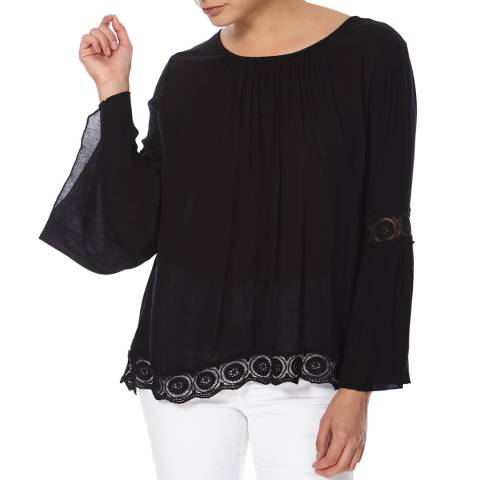 Superdry Black Indiana Lacy Blouse