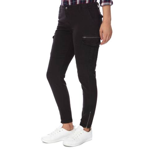 Superdry Black Super Skinny Cargo Trousers