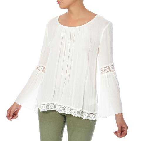Superdry Off White Indiana Lacy Blouse