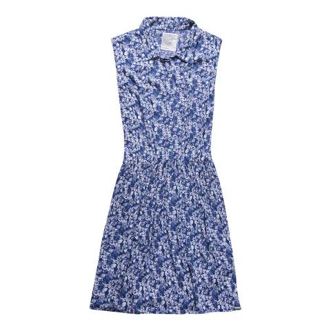 Superdry Floral Navy Ingbritt Shift Collar Dress