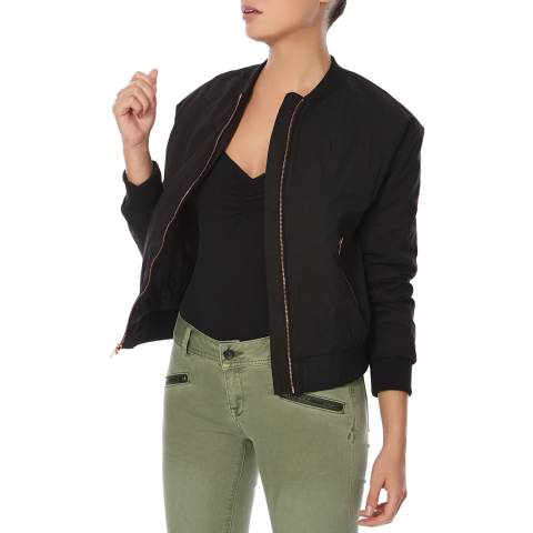 Superdry Black Alia Bomber Jacket