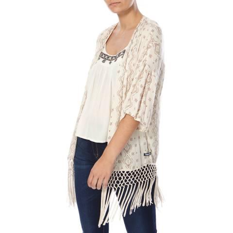Superdry Ikat Diamon Cream Ibiza Print Kimono