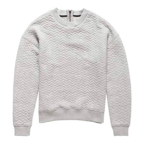 Superdry Grey Marl Quilted Nordic Crew Neck