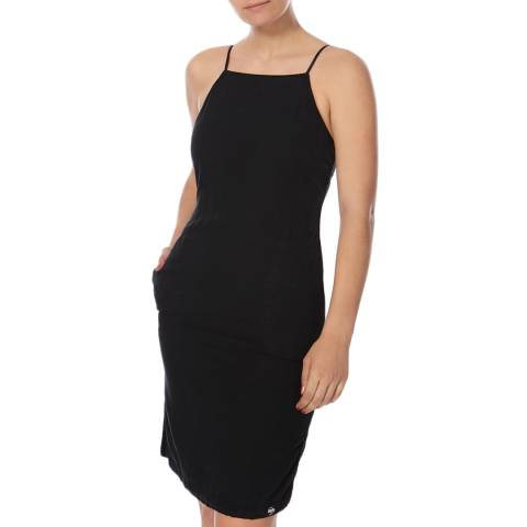 Superdry Black Tencel Racer Dress