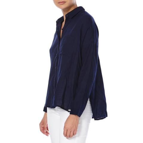 Superdry Navy Santorini Boyfriend Shirt
