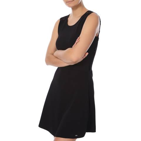 Superdry Black Alina Lace Knitted Dress