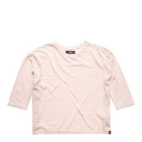 Superdry Blush/Ecru Burnout Nordic Boxy Top