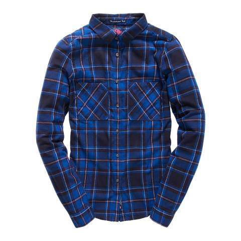 Superdry Lund Navy New Lumberjack Twill Shirt