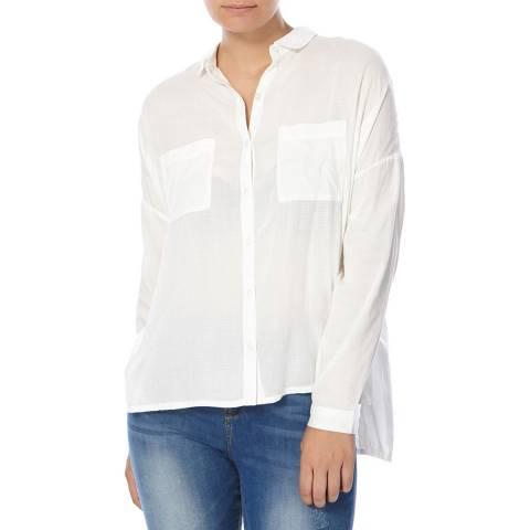 Superdry Ecru Ava Boyfriend Shirt