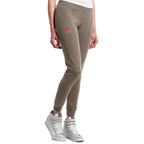 Superdry Dark Grey Marl Orange Label Super Skinny Joggers